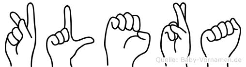 Klera in Fingersprache für Gehörlose