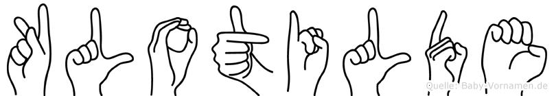 Klotilde im Fingeralphabet der Deutschen Gebärdensprache