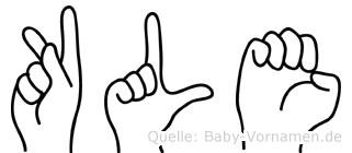 Kläe im Fingeralphabet der Deutschen Gebärdensprache