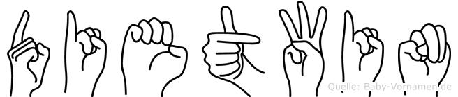 Dietwin in Fingersprache für Gehörlose