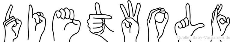 Dietwolf im Fingeralphabet der Deutschen Gebärdensprache