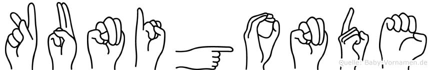 Kunigonde in Fingersprache für Gehörlose