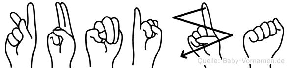 Kuniza in Fingersprache für Gehörlose