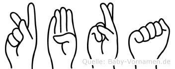 Kübra im Fingeralphabet der Deutschen Gebärdensprache
