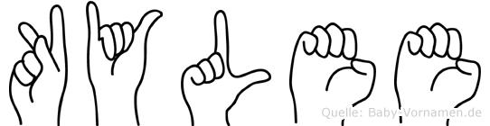 Kylee im Fingeralphabet der Deutschen Gebärdensprache