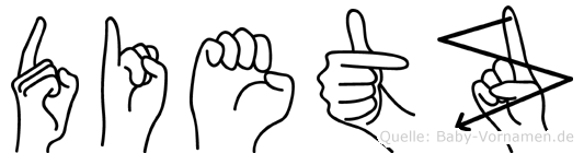 Dietz in Fingersprache für Gehörlose