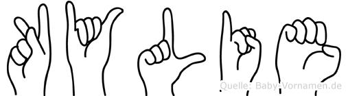 Kylie im Fingeralphabet der Deutschen Gebärdensprache
