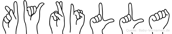 Kyrilla im Fingeralphabet der Deutschen Gebärdensprache