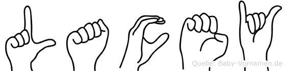 Lacey in Fingersprache für Gehörlose