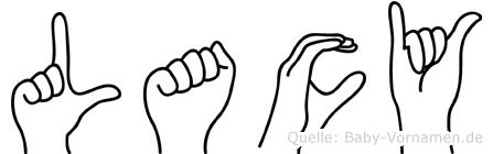 Lacy in Fingersprache für Gehörlose