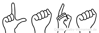 Lada in Fingersprache für Gehörlose