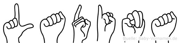 Ladina in Fingersprache für Gehörlose