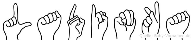 Ladinka in Fingersprache für Gehörlose