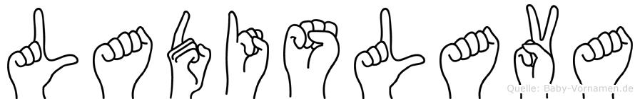 Ladislava in Fingersprache für Gehörlose