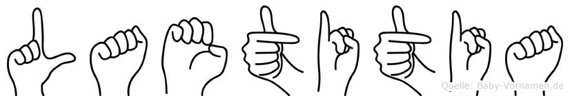 Laetitia in Fingersprache für Gehörlose