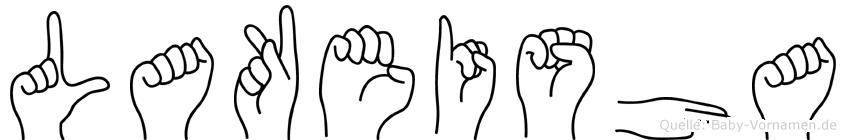 Lakeisha im Fingeralphabet der Deutschen Gebärdensprache