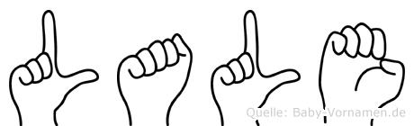 Lale im Fingeralphabet der Deutschen Gebärdensprache