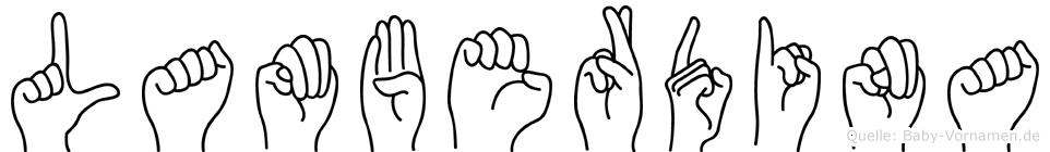 Lamberdina in Fingersprache für Gehörlose