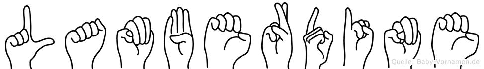 Lamberdine in Fingersprache für Gehörlose