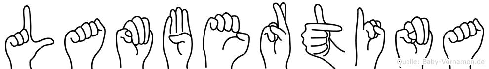 Lambertina in Fingersprache f�r Geh�rlose