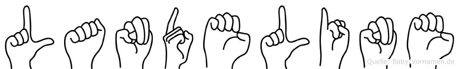 Landeline im Fingeralphabet der Deutschen Gebärdensprache