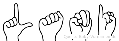 Lani im Fingeralphabet der Deutschen Gebärdensprache