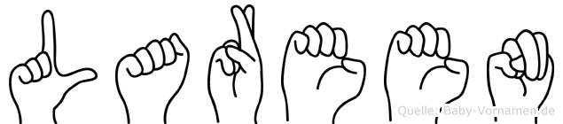 Lareen in Fingersprache für Gehörlose