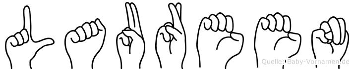 Laureen im Fingeralphabet der Deutschen Gebärdensprache