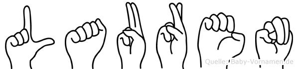 Lauren in Fingersprache für Gehörlose