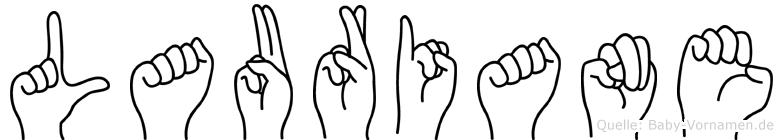 Lauriane im Fingeralphabet der Deutschen Gebärdensprache