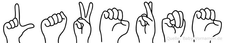 Laverne im Fingeralphabet der Deutschen Gebärdensprache