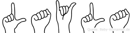 Layla in Fingersprache für Gehörlose