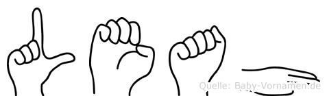 Leah in Fingersprache für Gehörlose