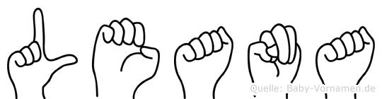 Leana im Fingeralphabet der Deutschen Gebärdensprache