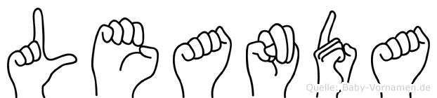 Leanda im Fingeralphabet der Deutschen Gebärdensprache