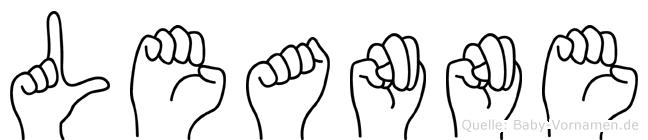 Leanne in Fingersprache für Gehörlose