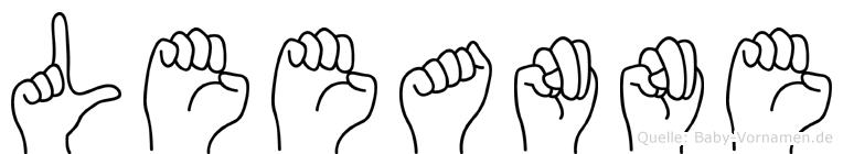 Leeanne im Fingeralphabet der Deutschen Gebärdensprache