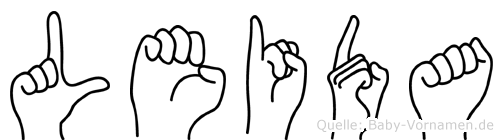 Leida in Fingersprache für Gehörlose