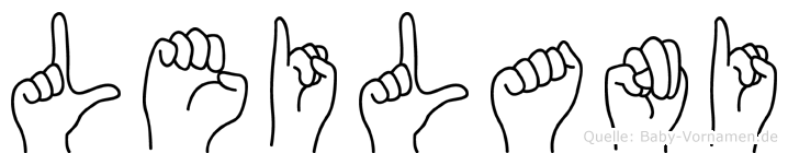 Leilani im Fingeralphabet der Deutschen Gebärdensprache