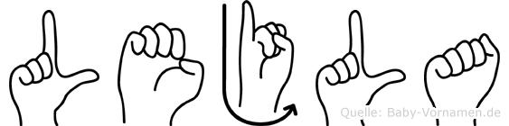 Lejla im Fingeralphabet der Deutschen Gebärdensprache