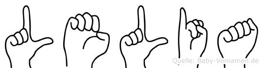 Lelia in Fingersprache für Gehörlose