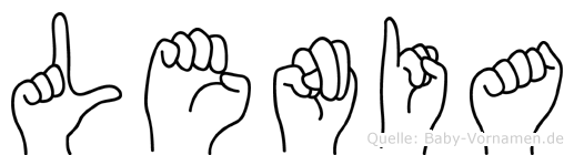 Lenia in Fingersprache für Gehörlose