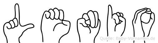 Lenio im Fingeralphabet der Deutschen Gebärdensprache