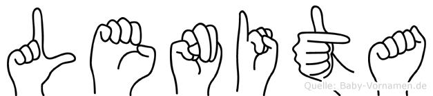 Lenita im Fingeralphabet der Deutschen Gebärdensprache