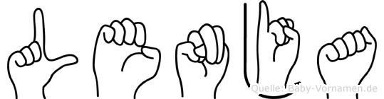 Lenja in Fingersprache für Gehörlose