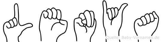 Lenya in Fingersprache für Gehörlose