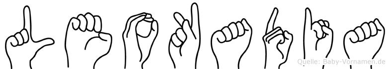 Leokadia im Fingeralphabet der Deutschen Gebärdensprache