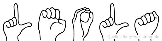 Leola im Fingeralphabet der Deutschen Gebärdensprache