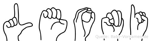 Leoni im Fingeralphabet der Deutschen Gebärdensprache