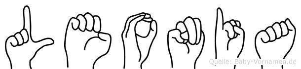 Leonia im Fingeralphabet der Deutschen Gebärdensprache